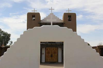 St. Jerome Chapel - Taos Pueblo Print by Mike McGlothlen