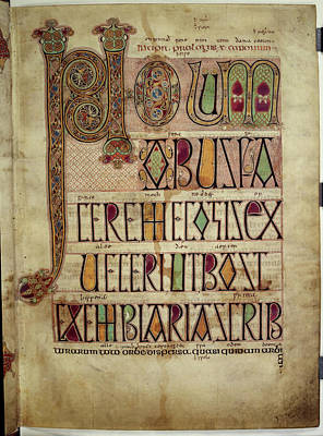 Lindisfarne Photograph - St Jerome's Letter by British Library
