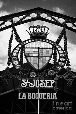 Boqueria Photograph - St Josep La Boqueria Market In Barcelona Catalonia Spain by Joe Fox