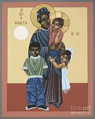 St. Josephine Bakhita Universal Sister 095 Original by William Hart McNichols