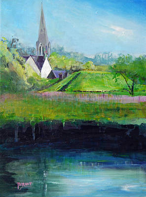 Scotland Painting - St Kessog's Mound And Spire by Peter Tarrant