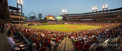 Stan Musial Photograph - St. Louis Cardinals Pano 6 by David Haskett