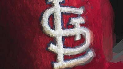 St. Louis Cardinals Red Paint Print by David Haskett