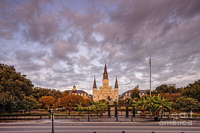 St. Louis Cathedral And Jackson Square - French Quarter - New Orleans Louisiana Print by Silvio Ligutti