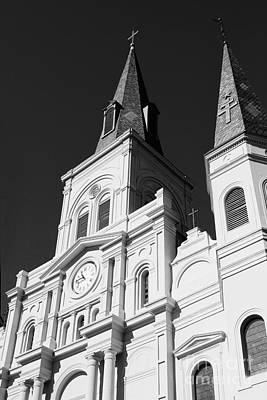 Black And White Photograph - St Louis Cathedral Black And White by Erin Johnson