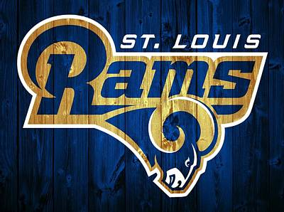 St. Louis Mixed Media - St. Louis Rams Barn Door by Dan Sproul