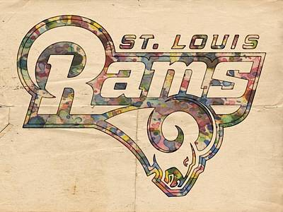 Saints Painting - St Louis Rams Logo Art by Florian Rodarte