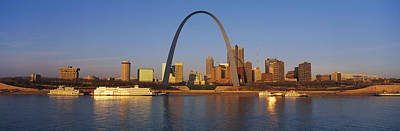 Arches Memorial Photograph - St. Louis Skyline by Panoramic Images