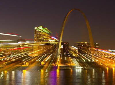 St Louis Skyline With Special Zoom Effect Print by Garry McMichael