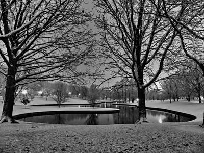 St. Louis - Winter At The Arch 001 Print by Lance Vaughn