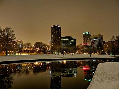 St. Louis - Winter At The Arch 007 Print by Lance Vaughn