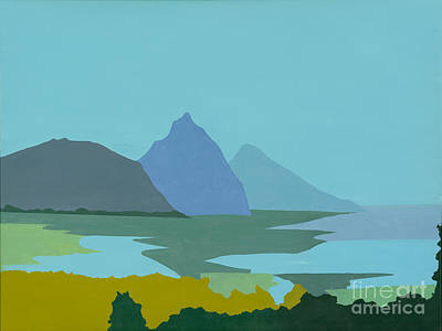 Abstrat Painting - St. Lucia - W. Indies II by Elisabeta Hermann