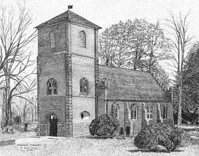 St. Luke Episcopal Church Smithfield Va Original by Stephany Elsworth