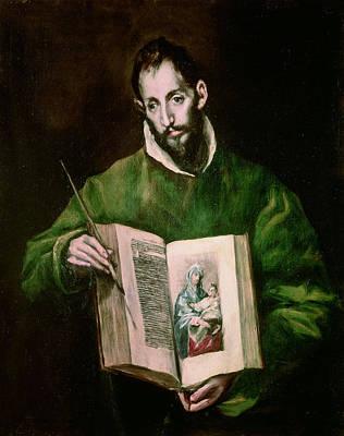 Saint Luke  Print by El Greco