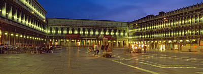 St. Marks Square Lit Up At Night Print by Panoramic Images