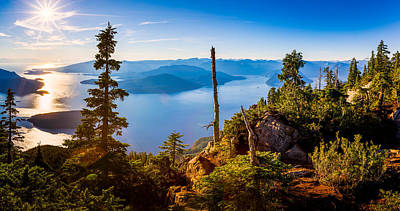 St Mark's Summit Near Vancouver Print by Alexis Birkill