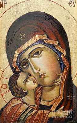 St. Mary And Jessus Original by Sorin Apostolescu