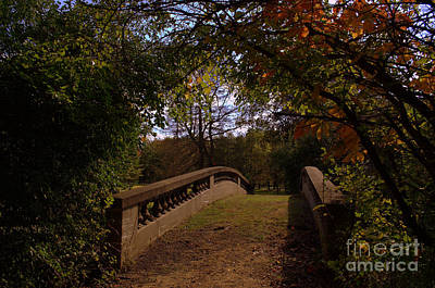 Indiana Photograph - St Mary Woods Midnight Bridge by Amy Lucid