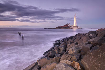 Lindisfarne Photograph - St Mary's Lighthouse  by Chris Frost