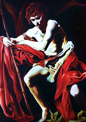 Painting - St. Matthew by Carl Baker