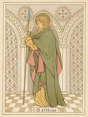 St Matthias Print by English School