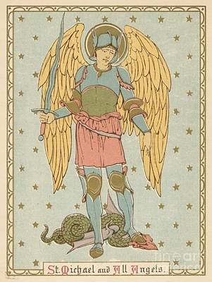 Prayer Drawing - St Michael And All Angels By English School by English School