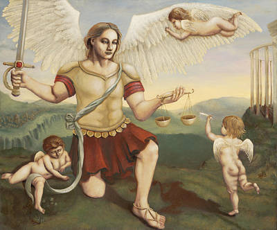 St. Michael The Archangel Print by Shelley Irish