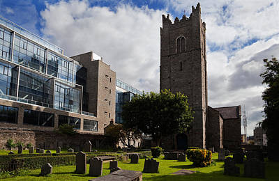 Gravestone Photograph - St Michens Church, 1686, Dublin City by Panoramic Images