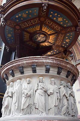 Relief Carving Photograph - St Nicholas Church Pulpit In Amsterdam by Artur Bogacki