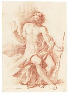 Giovanni Francesco Barbieri Painting - St Paul The Hermit by Celestial Images