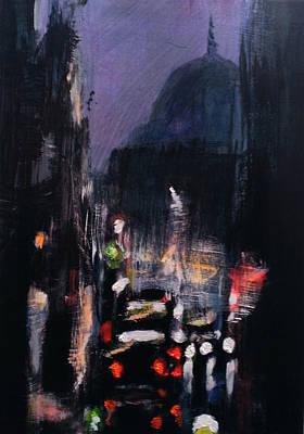 City Painting - St Paul's Dusk 1 by Paul Mitchell