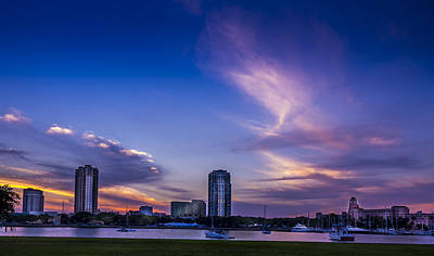 St. Pete At Sunset Print by Marvin Spates
