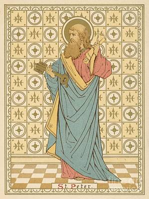 Religion Drawing - St Peter by English School