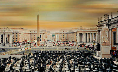 Papacy Photograph - St. Peter's Square Rome by Diana Angstadt