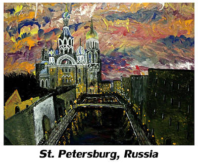 Landscape Painting - St  Petersburg Russia  by Mark Moore