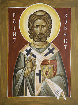 Orthodox Byzantine Icons Painting - St Robert by Julia Bridget Hayes