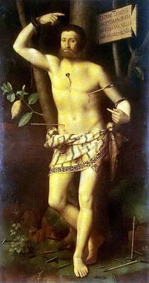 Christmas Painting - St Sebastian by Celestial Images