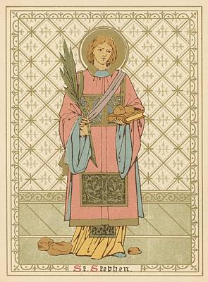 Religion Drawing - St Stephen by English School