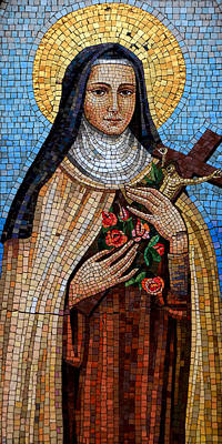 Crucifix Photograph - St. Theresa Mosaic by Andrew Fare