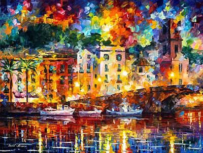 St Tropez Print by Leonid Afremov