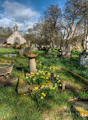 St Tysilio Graveyard Print by Adrian Evans