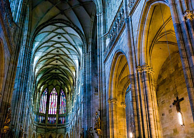 Prague Photograph - St Vitus Cathedral by Dave Bowman