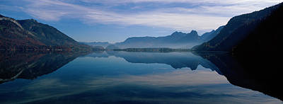 Mountain Photograph - St. Wolfgangsee And Alps Salzkammergut by Panoramic Images