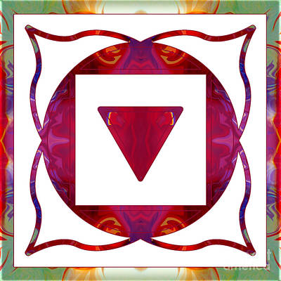 Muladhara Digital Art - Stabilized Emotions And Thoughtful Feelings Abstract Chakra Art  by Omaste Witkowski