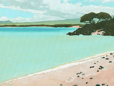 Haleiwa Painting - Stable Road Beach by Stacy Vosberg