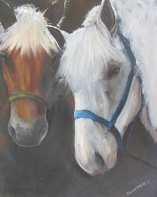 Susan L Richardson Art Painting - Stablemates by Susan Richardson