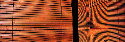 Repetition Photograph - Stack Of Lumber At Sawmill, Eureka by Panoramic Images