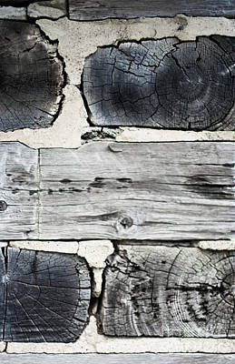Stacked Block Abstract Print by Barbara McMahon