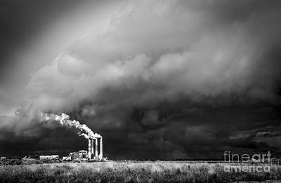 Wind Photograph - Stacks In The Clouds by Marvin Spates