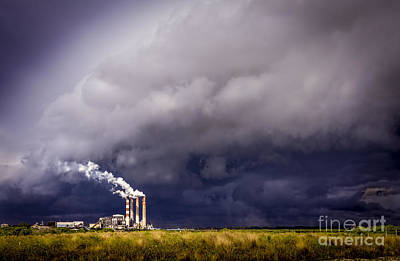 Stacks In The Clouds Print by Marvin Spates